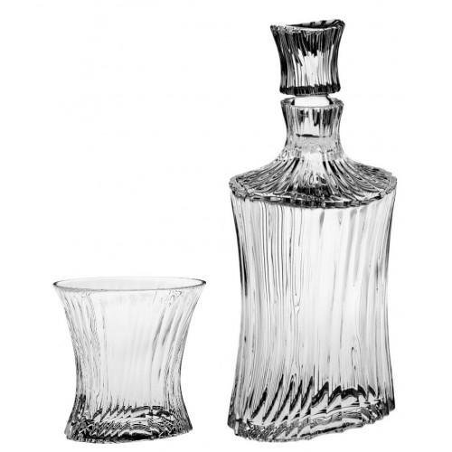 Set Whisky Orcan 1+6, čirý křišťál, objem 750 ml + 250 ml