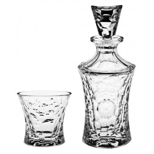 Set Whisky Molecules 1+6, čirý křišťál, objem 700 ml + 300 ml