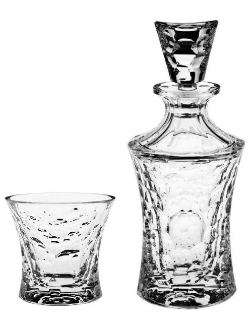 Set Whisky Molecules 1+6, čirý křišťál, objem 700 ml + 300 ml