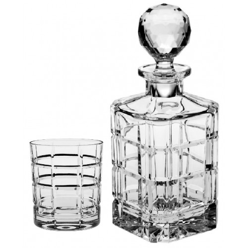 Set Whisky Timesquare 1+6, čirý křisťál, objem 800 ml + 320 ml