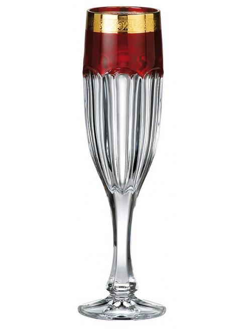Set Sklenice na víno Safari rubín - zlato 6x, bezolovnatý crystalite, objem 150 ml