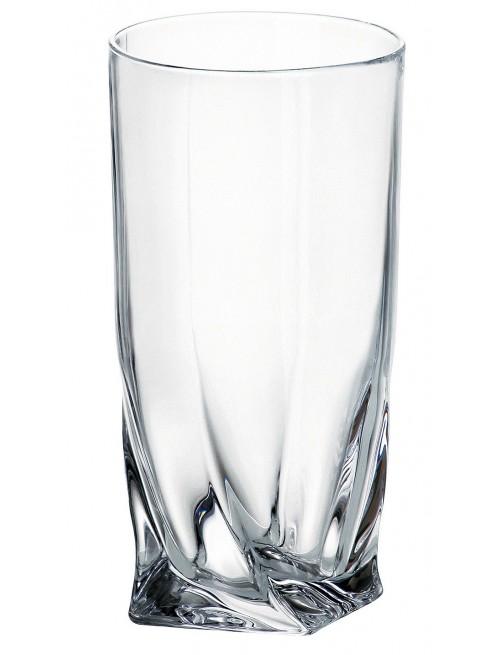 Sklenice Quadro, bezolovnatý, crystalite, objem 350 ml