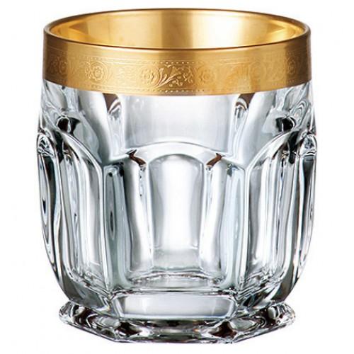 Set Sklenička Safari zlato 6x, bezolovnatý crystalite, objem 250 ml