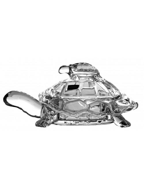Dóza želva, bezolovnatý crystalite, průměr 265 mm