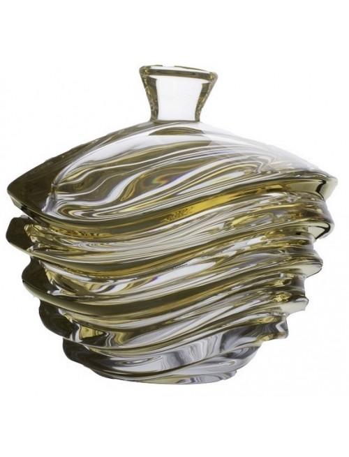 Dóza Wave zlato, bezolovnatý crystalite, průměr 220 mm