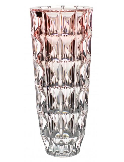 Váza Diamond, bezolovnatý crystalite, barva růžová, výška 330 mm