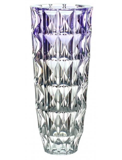 Váza Diamond, bezolovnatý crystalite, barva fialová, výška 330 mm