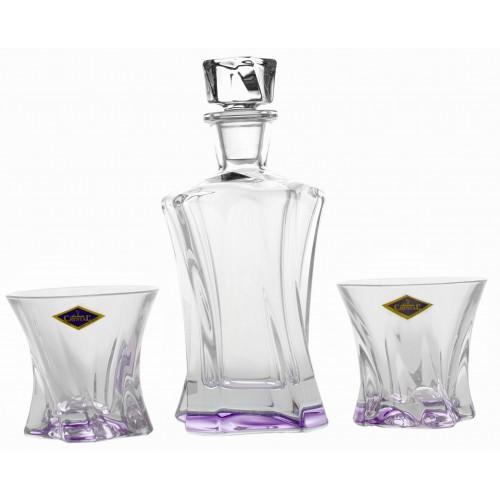 Set Whisky Cooper fialová, bezolovnatý crystalite 1+2