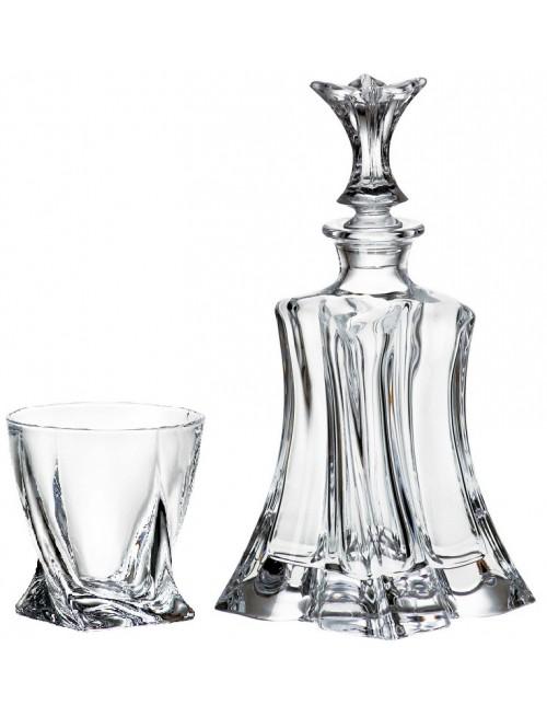 Set Whisky Florale 1+6, bezolovnatý crystalite, objem 700 ml + 340 ml