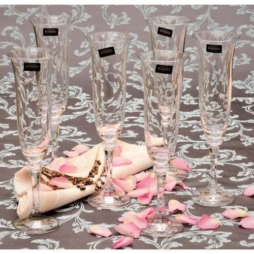 Set Sklenice na víno Branta 6x, bezolovnatý crystalite, objem 175 ml