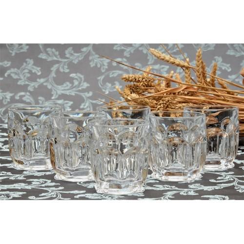 Set sklenice Safari 6x, bezolovnatý crystalite, objem 250 ml