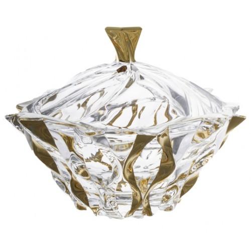Dóza Samba zlato, bezolovnatý crystalite, průměr 210 mm
