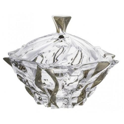 Dóza Samba platina, bezolovnatý crystalite, průměr 210 mm