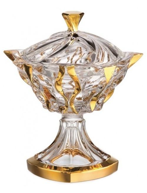 Dóza Samba zlato, bezolovnatý crystalite, průměr 250 mm