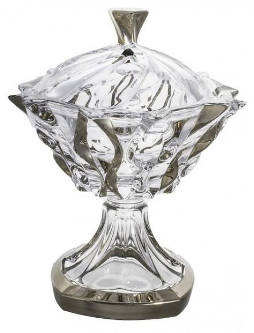 Dóza Samba platina, bezolovnatý crystalite, průměr 250 mm