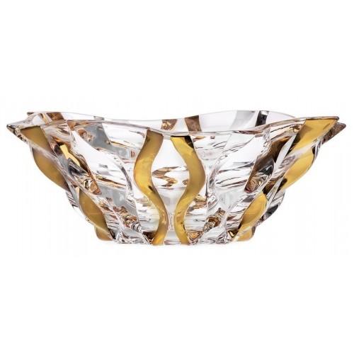 Mísa Samba zlato, bezolovnatý crystalite, průměr 305 mm