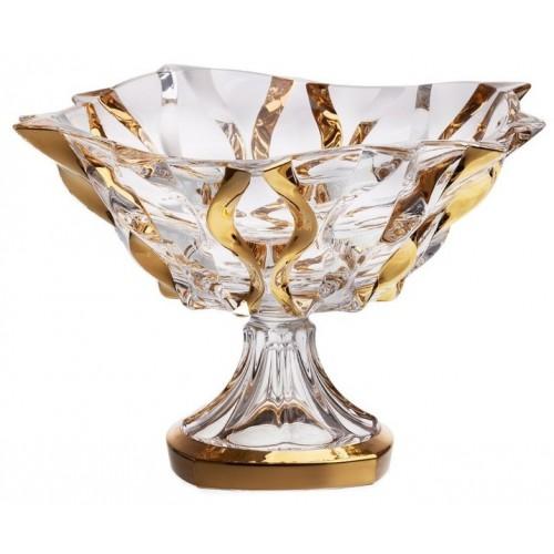 Nástolec Samba zlato, bezolovnatý crystalite, průměr 305 mm