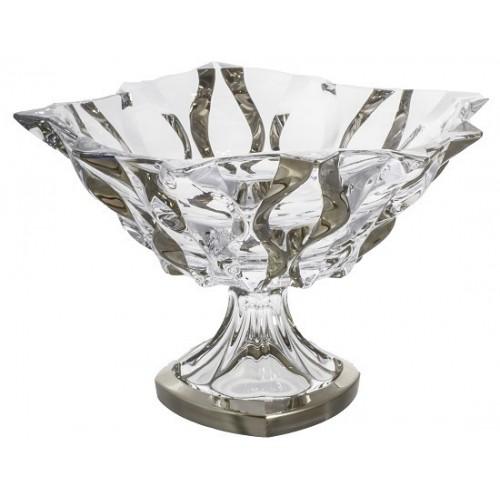 Nástolec Samba platina, bezolovnatý crystalite, průměr 305 mm