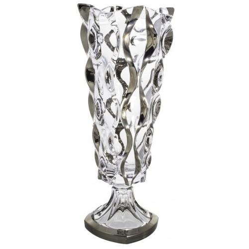 Váza Samba platina, bezolovnatý crystalite, výška 405 mm
