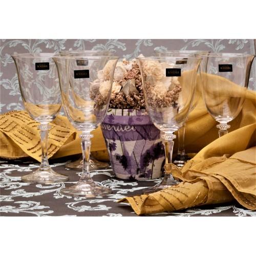 Set Sklenice na víno Branta 6x, bezolovnatý crystalite, objem 360 ml