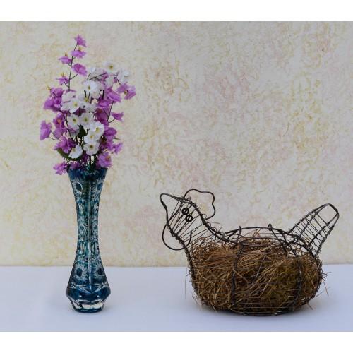 Váza  Petra III, barva azurová, výška 205 mm
