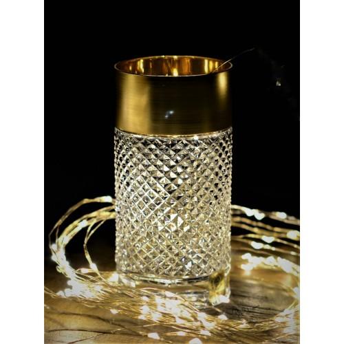Sklenička Zlato mat, barva čirý křišťál, objem 350 ml