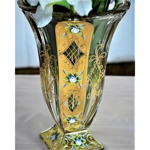 Váza Zlato, bezolovnatý crystalite, výška 360 mm