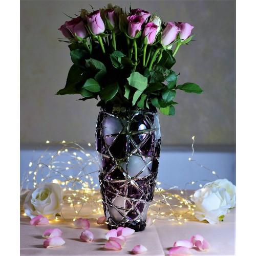 Váza  Mars, barva fialová, výška 230 mm