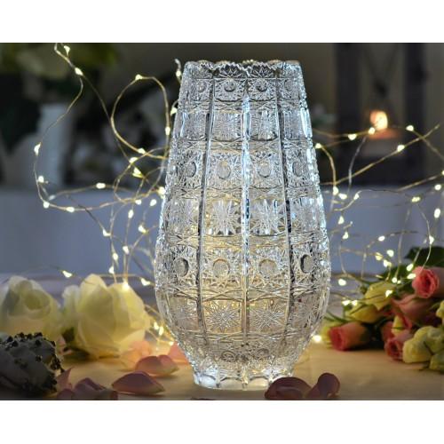 Váza 500PK XI, barva čirý křišťál, výška 255 mm