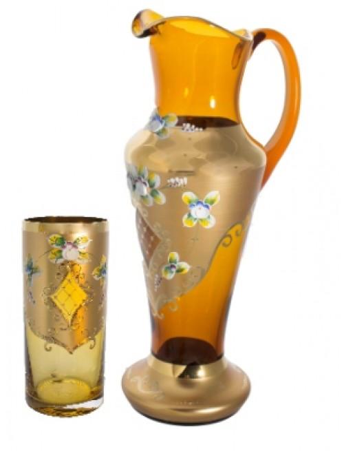 Set vysoký smalt 1+6, barva amber