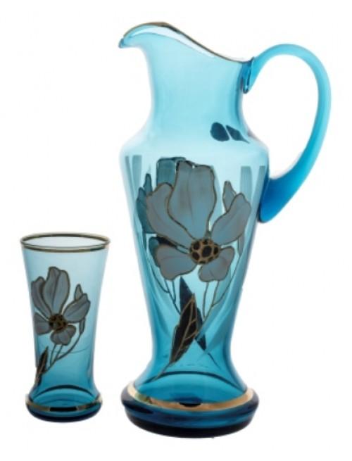 Set Květ 1+6, barva azurová