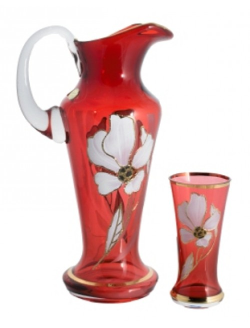 Set Květ 1+6, barva rubín