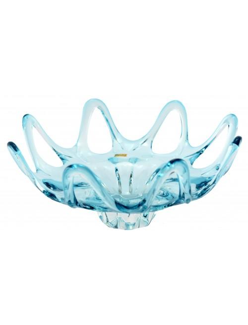 Mísa hutní sklo, barva azurová, průměr 370 mm