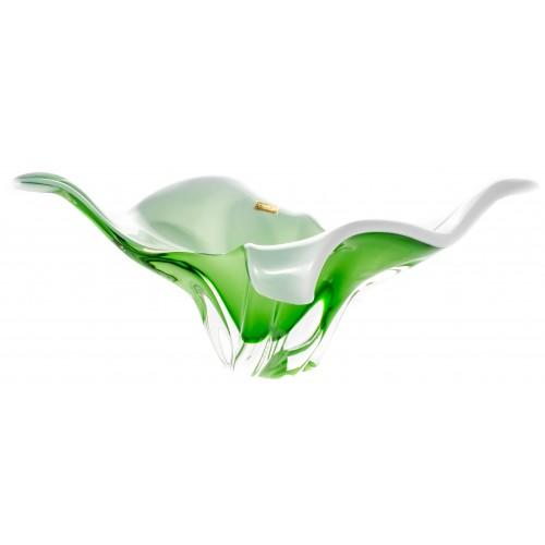 Mísa hutní sklo, barva zelená - opál, průměr 430 mm