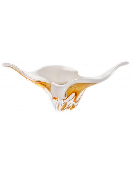 Mísa hutní sklo, barva amber - opál, průměr 430 mm