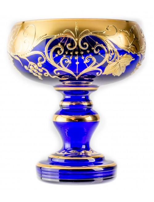 Nástolec Grape, vysoký smalt, barva modrá, průměr 150 mm