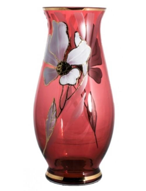 Váza Květ, barva rubín, výška 300 mm