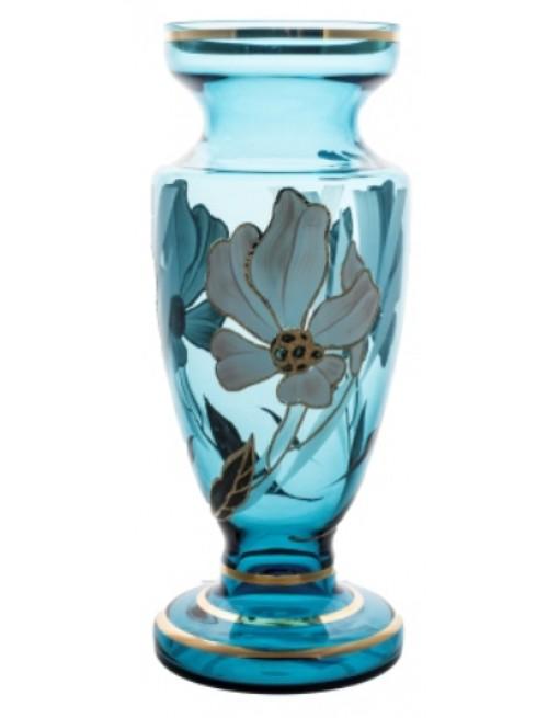Váza Květ, barva azurová, výška 305 mm
