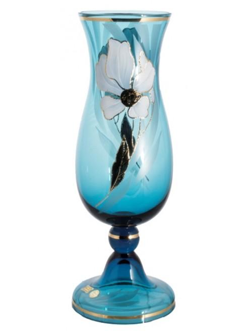 Váza Květ, barva azurová, výška 410 mm