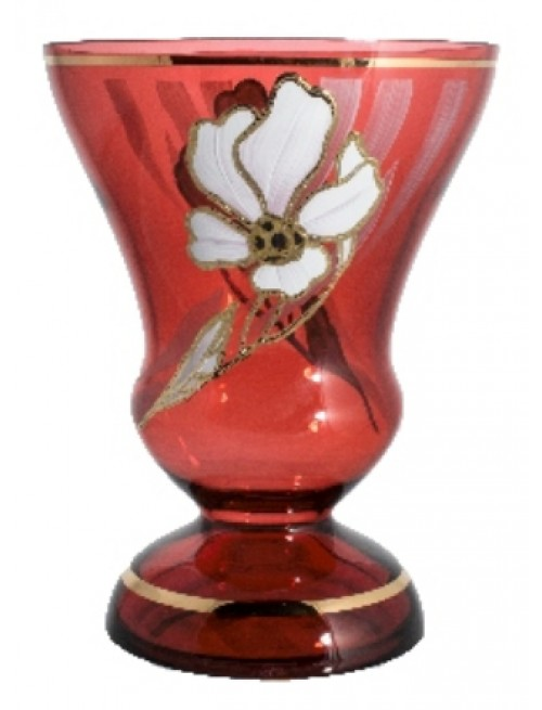 Váza Květ, barva rubín, výška 255 mm
