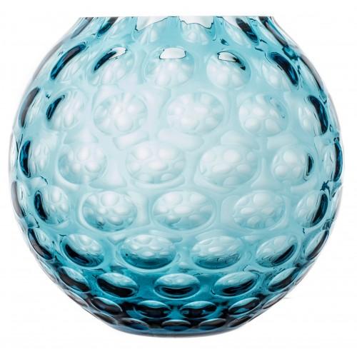 Váza Optika, barva azurová, výška 205 mm