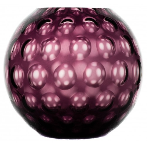 Váza Optika, barva fialová, výška 255 mm