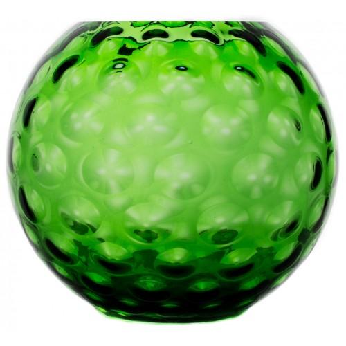 Váza Optika, barva zelená, výška 255 mm