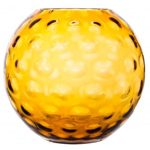 Váza Optika, barva amber, výška 255 mm