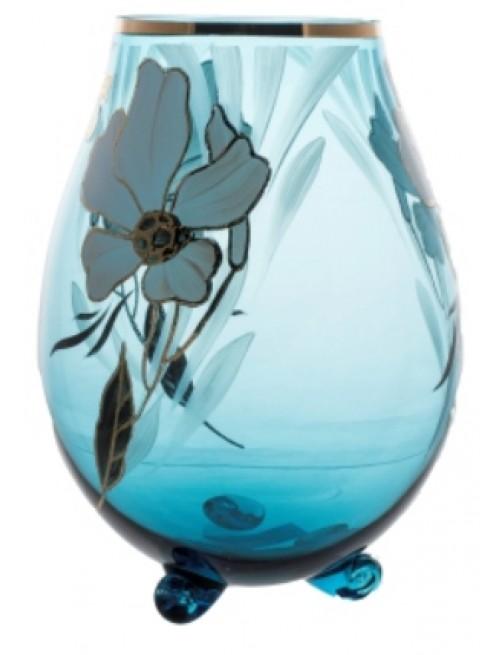 Váza Květ, barva azurová, výška 260 mm