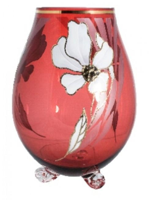 Váza Květ, barva rubín, výška 260 mm