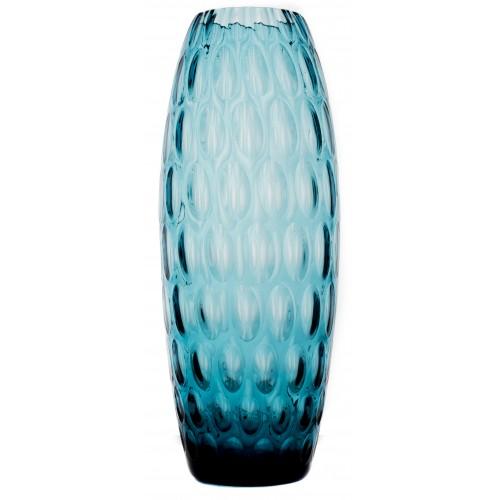 Váza Optika, barva azurová, výška 300 mm