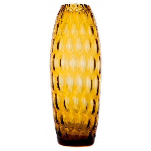 Váza Optika, barva amber, výška 300 mm