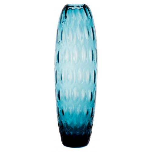 Váza Optika, barva azurová, výška 400 mm