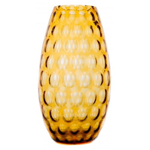Váza Optika, barva amber, výška 325 mm
